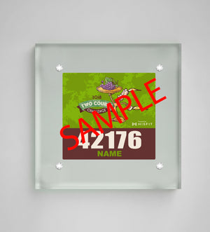 Acrylic Art Bib Display: Wine & Dine