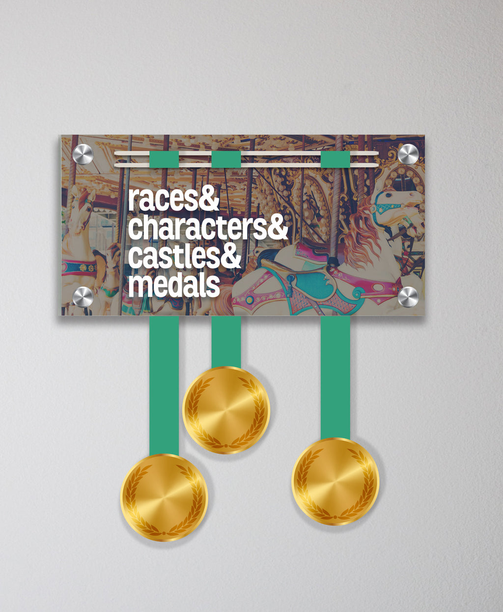 Acrylic Art: 'Characters & Bling' Medal Display by Raw Threads®