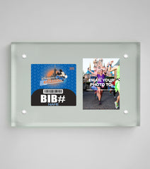 Acrylic Art Bib & Photo Display: Disneyland® Paris Half Marathon