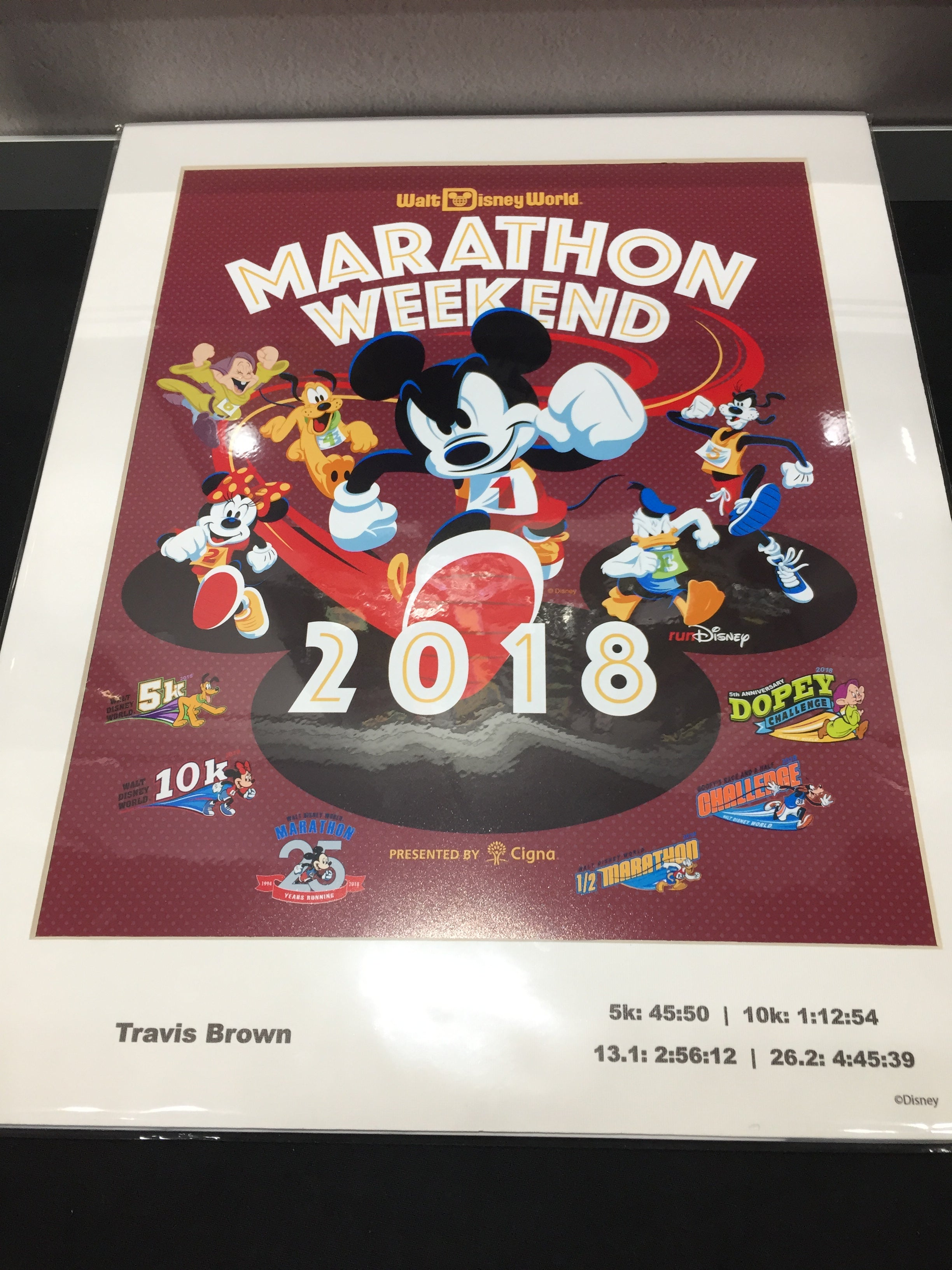 2018 Walt Disney World Marathon Weekend Print With Personalization