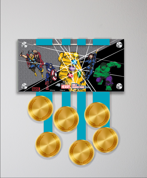 Acrylic Art: Super Hero Half Marathon Weekend Medal Display