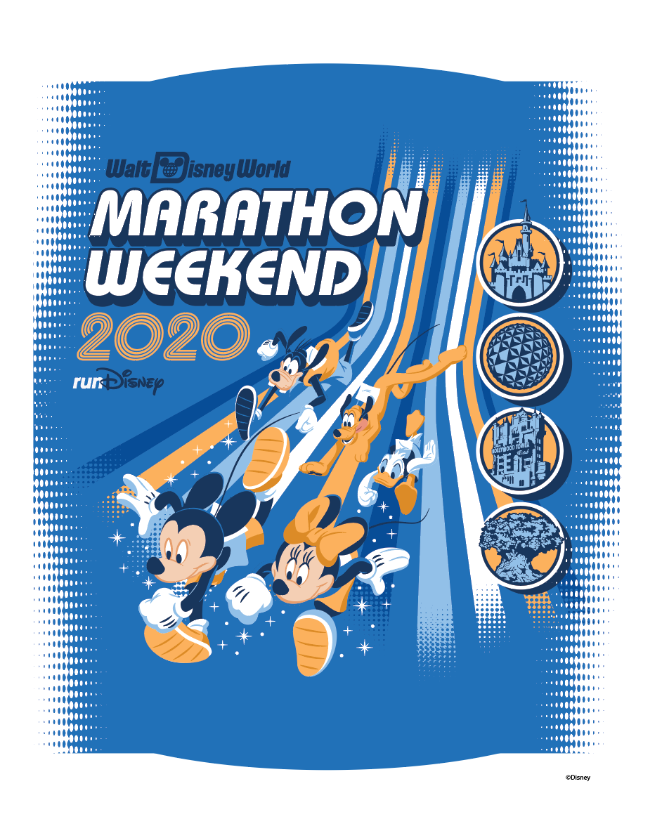 2020 Disney Marathon Weekend Print
