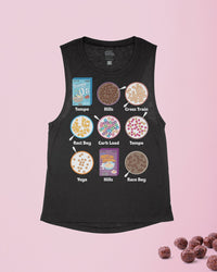 Cereal Training Schedule Flowy Scoop Tank