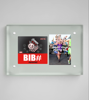 Acrylic Art Bib & Photo Display: Avengers Super Hero Half Marathon Weekend