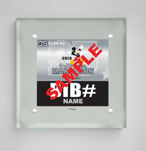 Acrylic Art Bib Display: Walt Disney World® Marathon Weekend