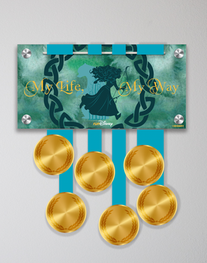 Acrylic Art: Princess Half Marathon Weekend Medal Display - Merida