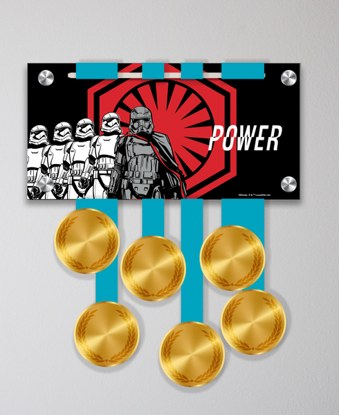 "Acrylic Art: 2018 Star Wars The Dark Side Half Marathon Weekend Medal Display: ""Power"""