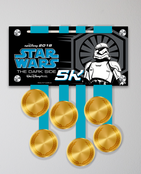 Acrylic Art: 2018 Star Wars The Dark Side Half Marathon Weekend Medal Display: 5k