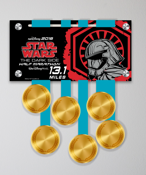 Acrylic Art: 2018 Star Wars The Dark Side Half Marathon Weekend Medal Display: Half Marathon