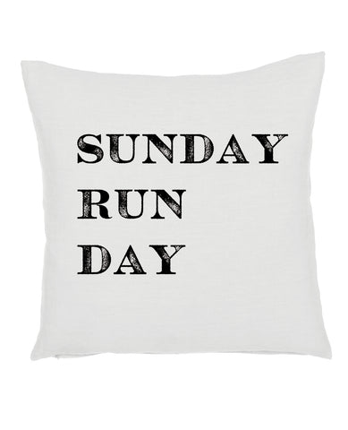 Sunday Run Day Pillow