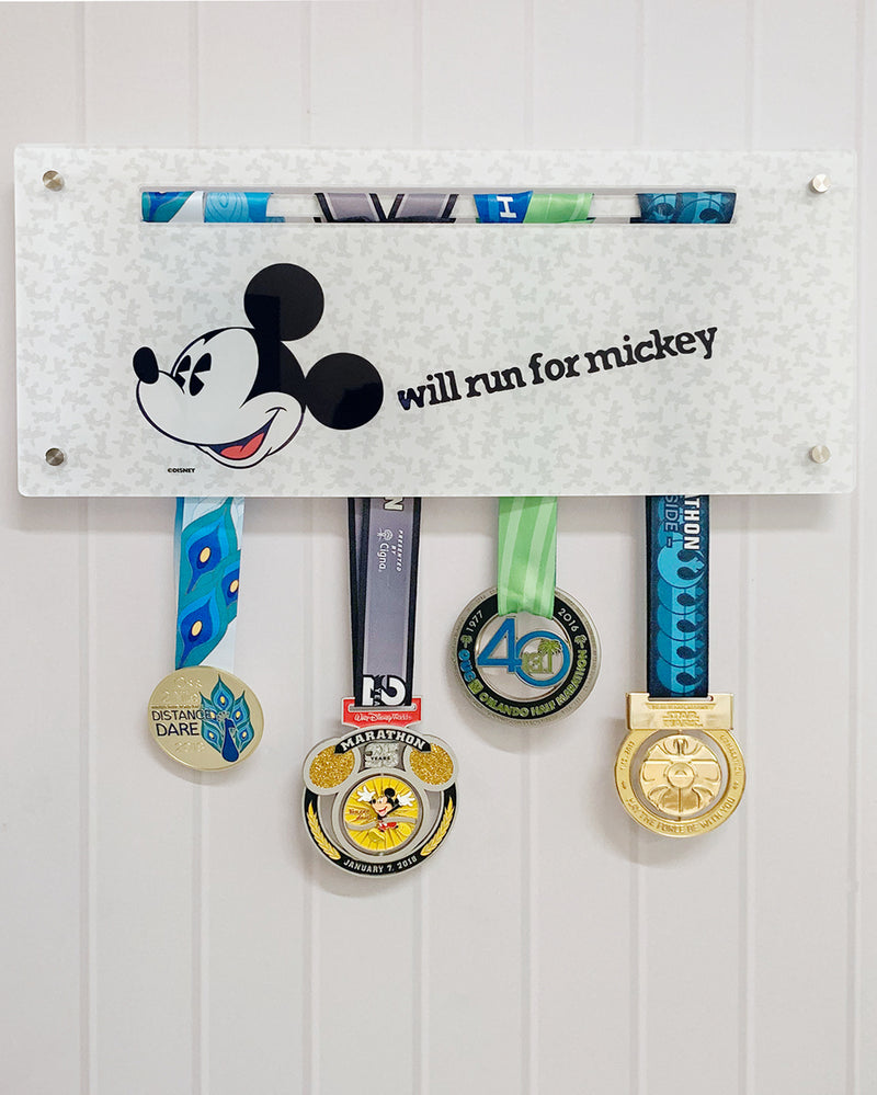 Will Run for Mickey Mouse Acrylic Medal Display