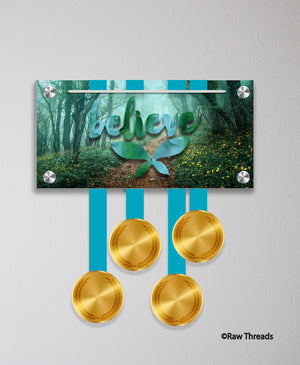 Acrylic Art: 'Believe Wings' Medal Display by Raw Threads®