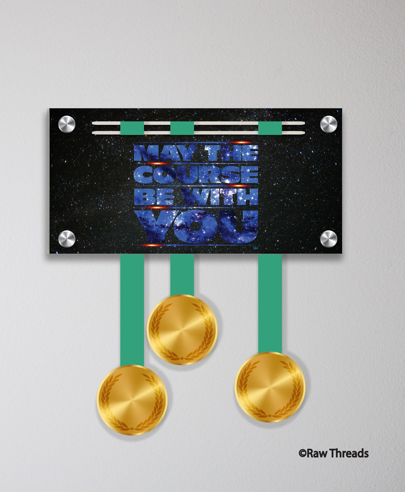 Acrylic Art: 'May the Course Be With You' Medal Display by Raw Threads®