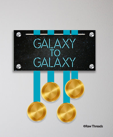 Acrylic Art: 'Galaxy to Galaxy Blue Blade' Medal Display by Raw Threads®