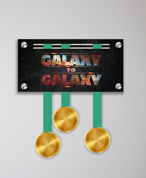 Acrylic Art: 'Galaxy to Galaxy' Medal Display by Raw Threads®