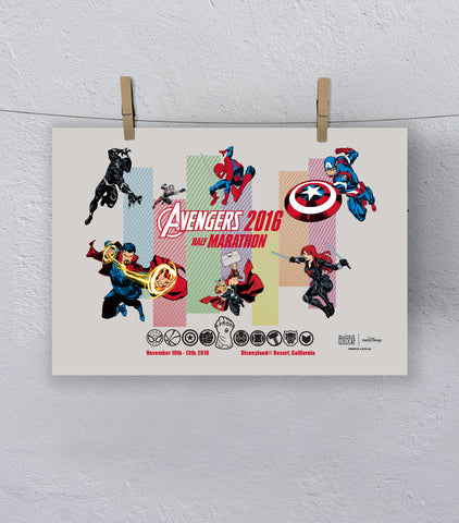 2016 Avengers Super Hero Half Marathon Print (Limited Edition)