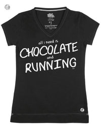All I Need is Chocolate and Running V - Raw Threads Athletics