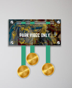 Acrylic Art: 'Park Vibes Only' Medal Display by Raw Threads®