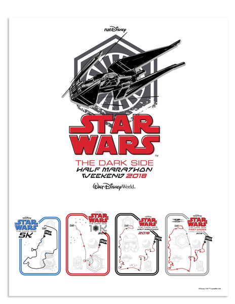 2018 Star Wars™ Dark Side Half Marathon Weekend Print