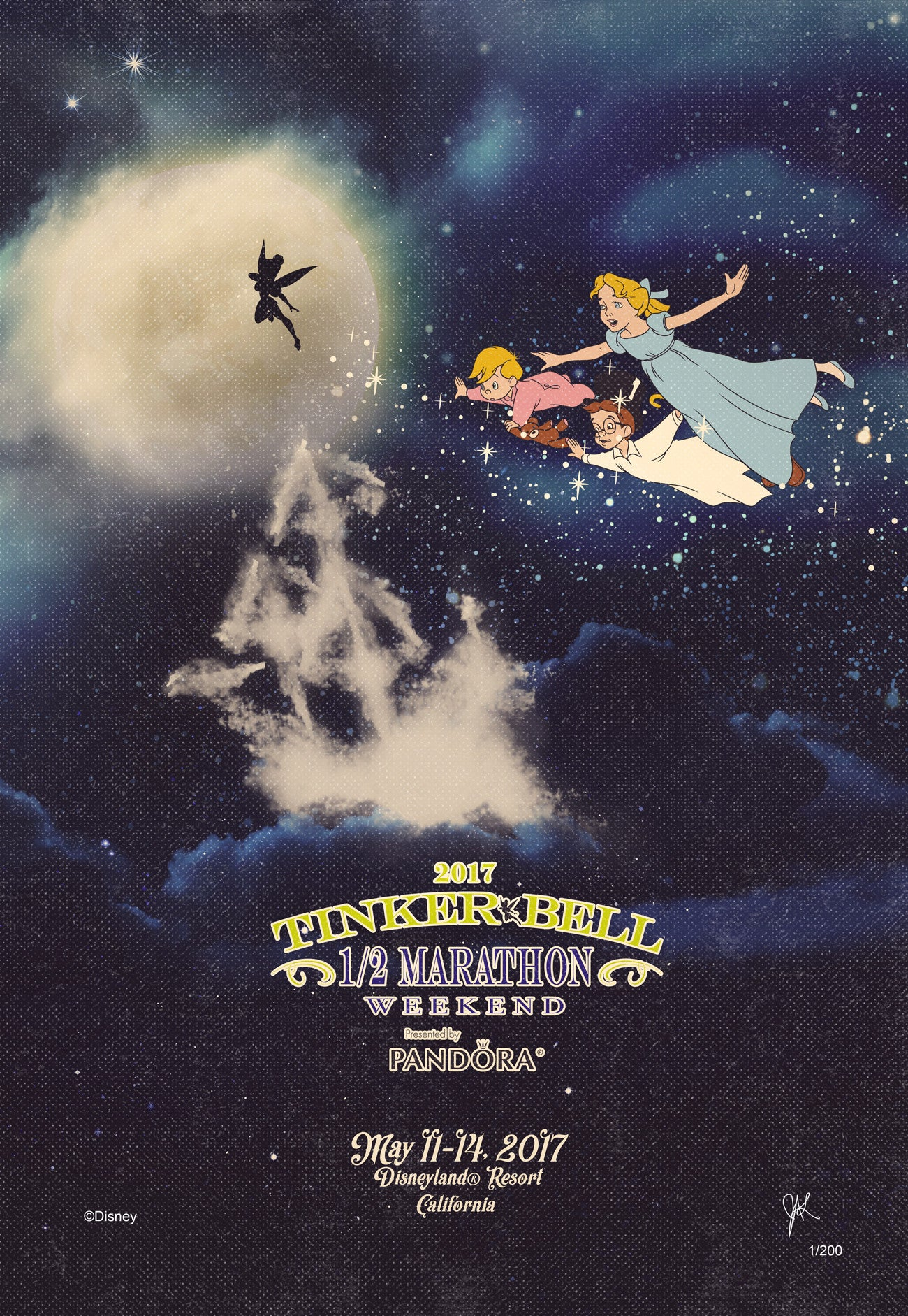 2017 Tinker Bell Half Marathon Weekend Print (Limited Edition)