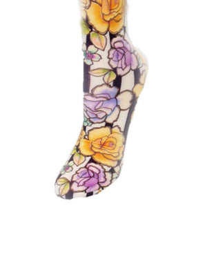 Roses and Stripes Compression Socks