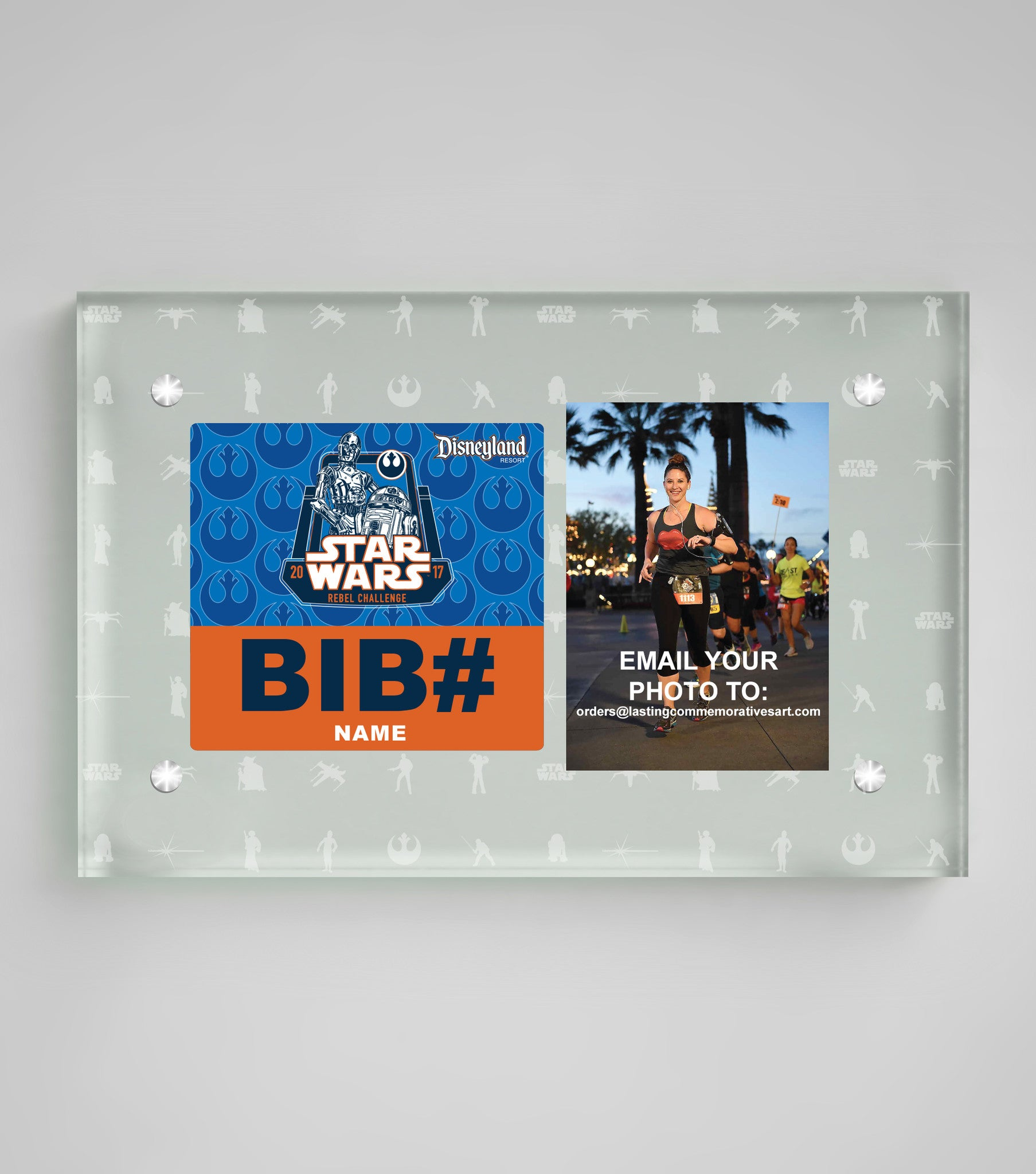 Acrylic Art Bib & Photo Display Star Wars™ The Light Side