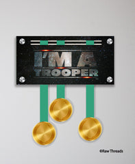 Acrylic Art: 'I'm a Trooper' Medal Display by Raw Threads®