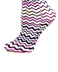 Pastel Zig Zag Compression Socks