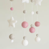 DIY Baby Mobile - Dusky Pink with Stars