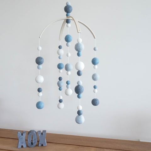 DIY Baby Mobile - Dusky Blue
