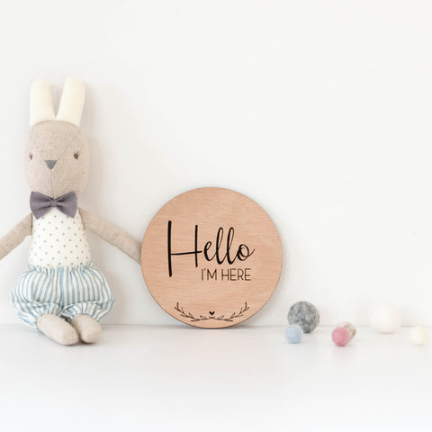 Birth Announcement - 'Hello I'm Here'