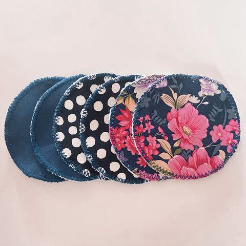 Breast Pads - Navy Floral