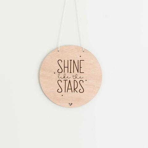 Wall Sign - 'Shine like the Stars'