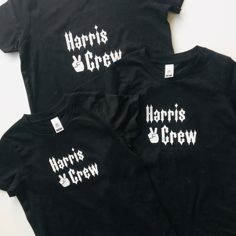 Personalised Family Crew Tee