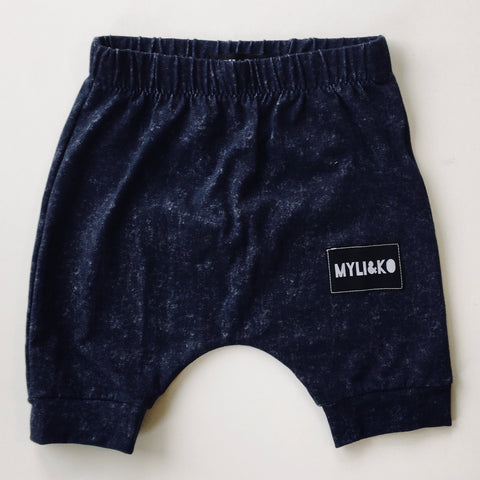 Stone Wash Navy Harlem Shorts