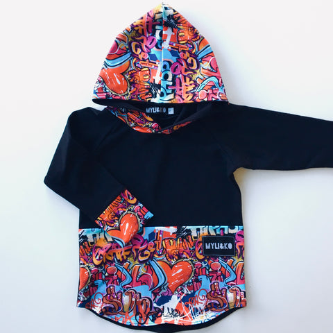 Graffiti Hooded Top