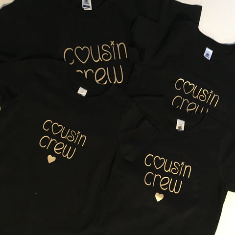 Personalised Family Crew Tee - Name Printed