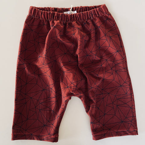 Harem Shorts - Geo Print Red