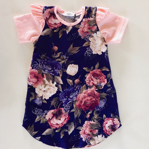 Savannah Dress - Navy Floral