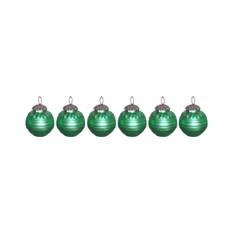 GiftBay Christmas Glass Ornament 012 (Set of 6)