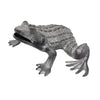 "GiftBay GS-1240 Garden Frog Sculpture, Solid Cast Aluminum Metal, 11"" Length"