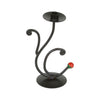"GiftBay 14006 Beautiful Candlestick Holder 9.5"", Black Powder Coated Finish"