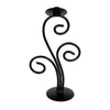 "GiftBay 14008 Candlestick Holder 13"", Black Powder Coated Finish"