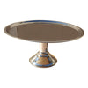 "GiftBay Wedding Cake Stand Round Pedestal Stainless Steel 10"" Diameter on Top, 5"" Height (Stand)"