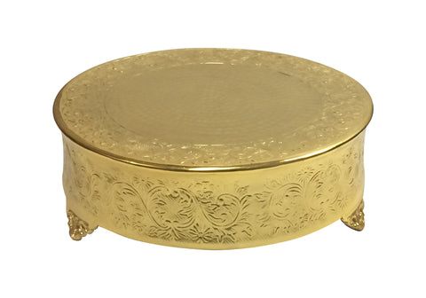 GiftBay CSG74318 Wedding Cake Stand Round 18-Inch,Aluminum Gold Finish