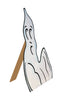 "GiftBay Halloween Ghost Window Decor (Wooden) Set of 3 Pieces, 15"", 13"", 11"" Height"