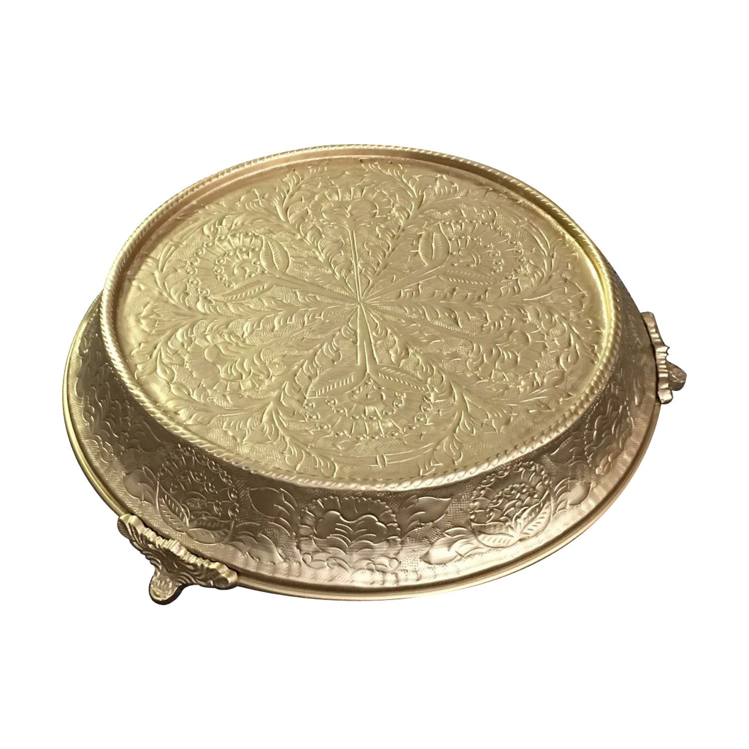 Cake Stands Tapered Aluminum, Gold