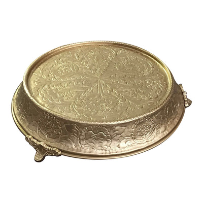 GiftBay Wedding Cake Stand Tapered 16-Inch Round, Gold Finish