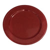 "GiftBay CP-15(S/4) Wedding Metal Charger Plates 13"" Round, Red Powder Coated Finish Set of 4 Plates"