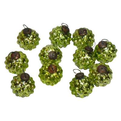 "GiftBay ORN-103(S/12) Antique-look Glass Ornament 2.5""H, Set of 12 for Christmas Tree Decorations"